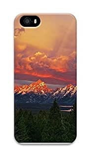 Case For Iphone 5/5S Cover Beautiful Mountains Sunset Forest57 3D Custom Case For Iphone 5/5S Cover