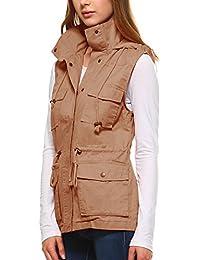 Women's Lightweight Sleeveless Military Anorak Utility Jacket Vest
