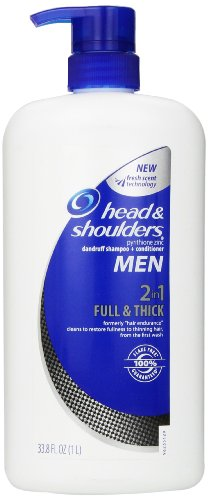 Head and Shoulders Hommes complet épais 2-en-1 Shampooing Conditioner + 33,8 Fl Oz