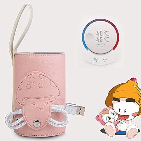 USB Babyflaschenw/ärmer Tasche Tragbarer Milchflaschenw/ärmer Heizungsw/ärmer Baby Isolierungs Thermostat Milchnahrung Thermische W/ärmer Tasche mit USB Aufladungport f/ür Babypflege rosa
