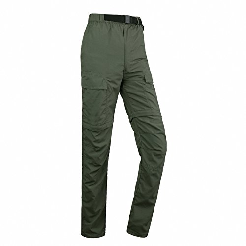 Quick Dry Pants, ADiPROD Women's Water Repellent Lightweight Convertible Cargo Shorts Hiking Camping Pants Outdoor Sports (S, Green)