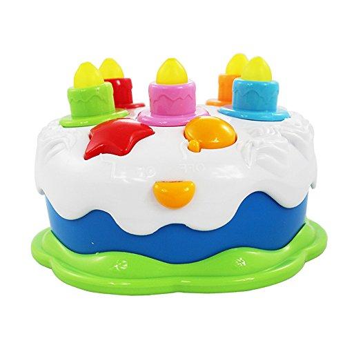 Efanty Juguete de Torta de Cumpleaños con Música, Luces ...