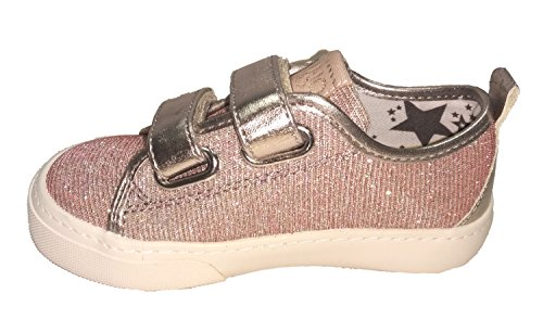 Velcri Girl Liu Sneaker jo Cipria In Tessuto 2 Glitterato qTwHaw