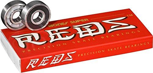 Bones Super Reds Bearings, 8 Pack (Bones Longboard)