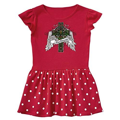 - inktastic - Macdonald Tartan Cross Infant Dress 6 Months Red and Polka Dot 23312