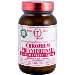 Chrome 200mcg 100 Polynicotinate comte