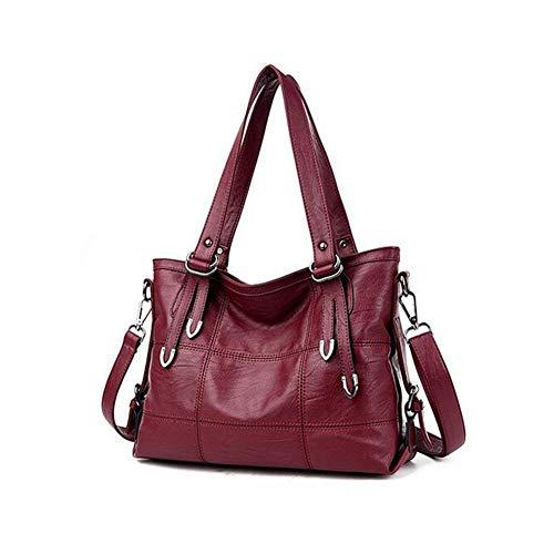 25 35 grande rosso tracolla rosso 13 viola Laidaye a Tote donna vino Pu Borsa qualità borsa borsa casual da di cm taglia diagonale capacità 0xnTZ