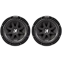 2) Kicker C104 10 300W Comp 4-Ohm Car Audio Subwoofers Subs C10 Pair | 43C104