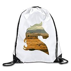 MaNeg Cool Horse Drawstring Backpack&Travel Bag