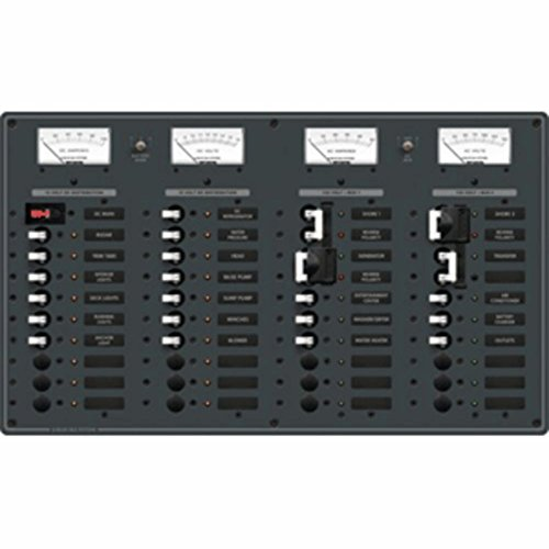 Systems Accessories Panel (Blue Sea 8086 Toggle Circuit Breaker Panel - White Switches Electronics Accessories)