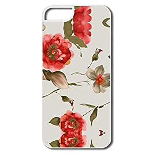 Beautiful Flower Hard Cute Case Cover For IPhone 5/5s by mcsharks