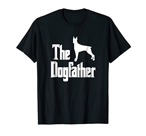 The Dogfather t-shirt, Doberman silhouette, funny dog gift Doberman Pinscher Dog Print