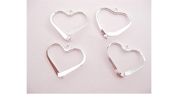 2 bañado en plata en forma de corazón para escalada en hielo ...