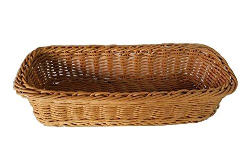 - Black Temptation [Coffee] Rattan Chopsticks Basket Flatware Storage Tray Cutlery Organizer