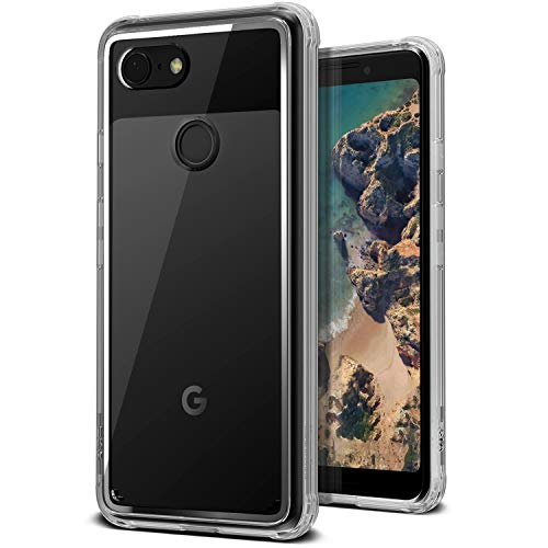 Google Pixel 3 Case, VRS Design [Transparent] Clear Heavy Duty Protection [Crystal Chrome] Anti-Yellowing Acryl Back TPU Bumper for Google Pixel 3 (2018)