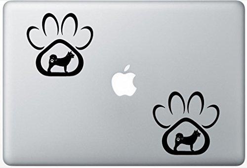 - Akita Dog Paw Decal PetsAffectionLaptop0917 Set Of Two (2x) , Dog Decal , Sticker , Laptop , Ipad , Macbook