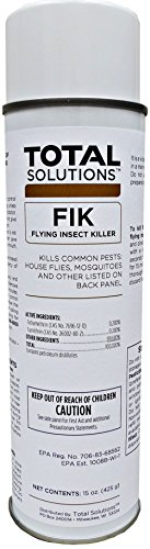 FIK - Flying Insect Killer, Knocks flying insects out of the air - 12 Can Case by EcoClean Solutions