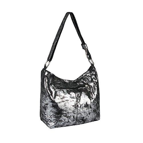 OBC Only-Beautiful-Couture - Bolso de asas de Piel para mujer Grau-Silber
