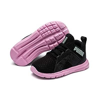 PUMA Unisex-Kids' Enzo Trailblazer AC PS Sneaker, Puma Black-Lilac Sachet, 1 US