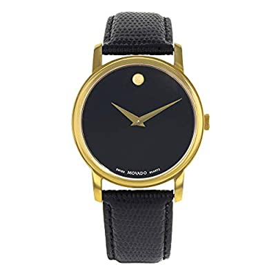 Movado Museum Quartz Male Watch 2100005 (Certified Pre-Owned) by Movado