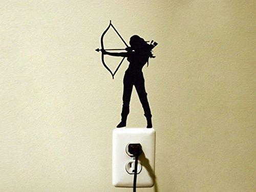 Amazon.com: Archery Vinyl Decal Sticker Hunting Bow And Arrow Woman ...
