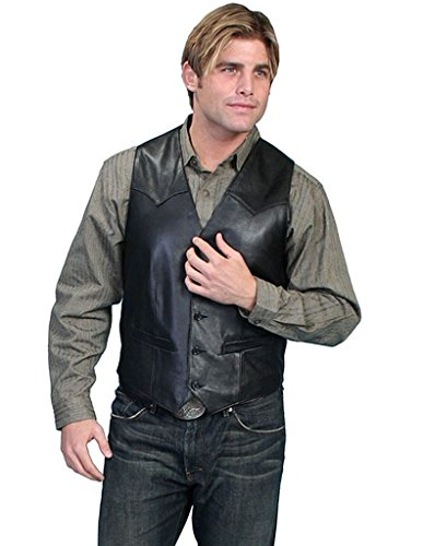 Scully Men's Lamb Leather Western Vest Tall Black 40 T ()
