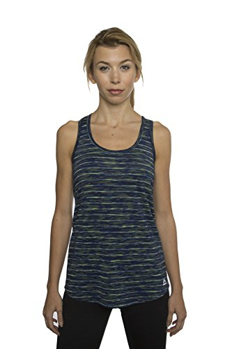 RBX Active Women's Special Edition Multi-Color Striped Tank Top,Navy Combo,Medium
