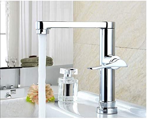 浴室のバルコニー洗面器の単一冷たい蛇口/ステンレス鋼+銅製の弁の中心/単一の穴の単一のハンドルの蛇口/シンプルな、ファッション/取り付け穴の直径3.5-4cm