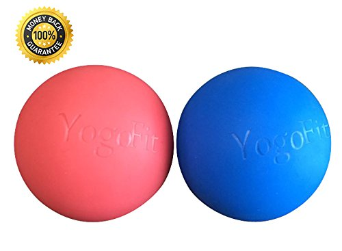 Premium Lacrosse Massage Balls Set By ZinFit - Great For Myofascial Release, Trigger Point Therapy, Muscle Knots, and Yoga Therapy Hard & Firm Rubber - Bundle of 2