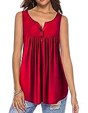KISSMODA Damenhemden Knöpfen Rüschen Lässige Tunika Tops Für Frauen