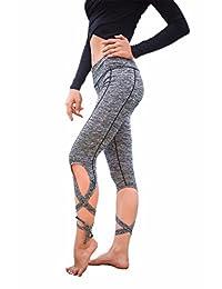 CFR Women's Cutout Tie Yoga Pants Sport Leggings Fitness Tights Jogger Trousers