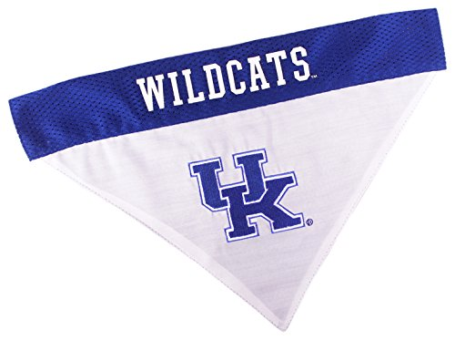 Pets First Collegiate Pet Accessories, Reversible Bandana, Kentucky Wildcats, Large/X-Large