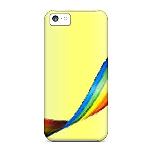 LJF phone case Awesome Case Cover/iphone 5c Defender Case Cover(rainbow)