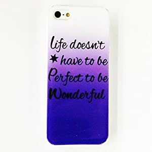 SJT Fashion Punk English Words Pattern Plastic Hard Case for iPhone 5/5S , Multicolor
