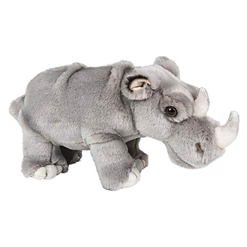 "Wildlife Tree Standing 12"" Stuffed Rhinoceros Plush Rhino Floppy Animal Kingdom Collection"