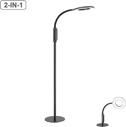 Lámpara de pie, lámpara de mesa y lámpara de pie 2 en 1 LED ...