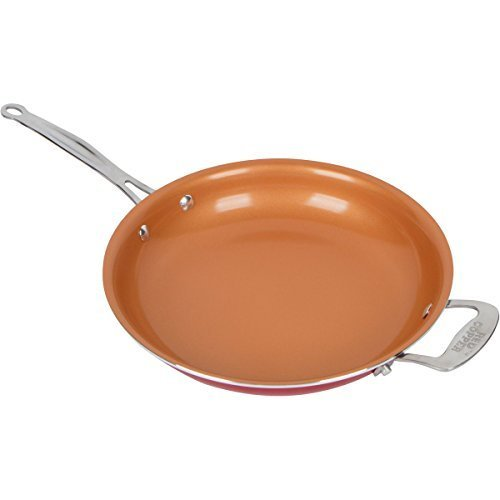 10 INCH RED COPPER FRY SAUTE PAN NON STICK