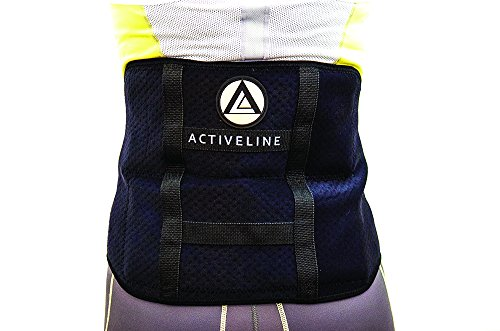 ActiveLine Sports Ice Therapy Back Wrap and Two Reusable Ice Pods, Black (Pod Ice Black)