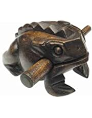"""Groove Masters Percussion 5"""" Wooden Frog Sound Guiro - Dark Stain"""