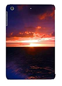 EAv123IYSsU Tpu Phone Case With Fashionable Look For Ipad Mini/mini 2 - Sunset Ocean Clouds Landscapes Nature Rocks Skyscapes Land Sea Case For Christmas Day's Gift