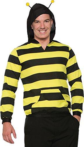 Forum Novelties 78099 Bee Adult Hoodie with Antenna,