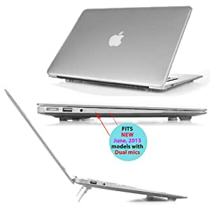 iPearl mCover Hard Shell Cover Case with FREE keyboard cover for 13.3-inch Apple MacBook Air A1369 & A1466 - CLEAR
