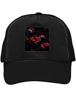 Unisex Rose in Dark Adjustable Classic Hiphop Hat Baseball Cap Snapback Dad Hat