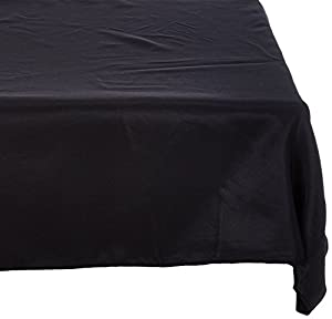 Beautiful Fitted Polyester Tablecloth Black