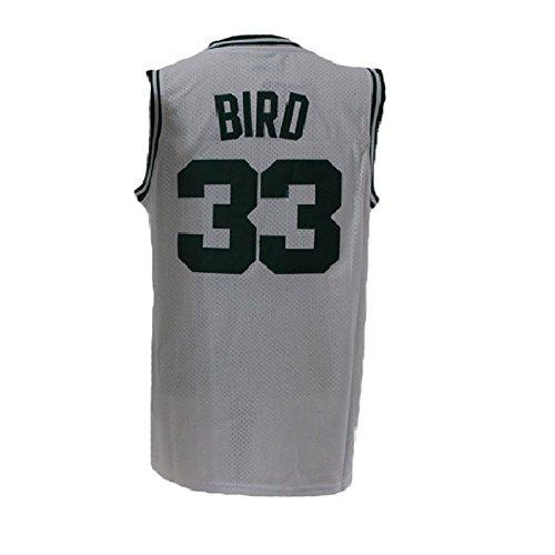 Hokgne 33 Mens Bird Jerseys Basketball Athletics Jersey Larry Jerseys White (m) (Larry Bird Jersey)