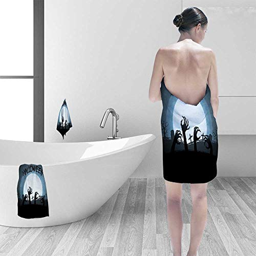 Printsonne 100% Cotton Bath Towel Collection Spooky Zombie Hands Out of Grave Rise of The Dead Fiction Fantasy No Fading Multipurpose