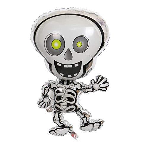 BRUIO Halloween Decorative Balloons Creative Dancing Human Skeleton Shaped Aluminum Balloon 0PCS -