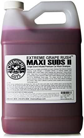 Chemical Guys CWS_1010 Maxi-Suds II Super Suds Car Wash Soap and Shampoo, Grape Scent (1 Gal)