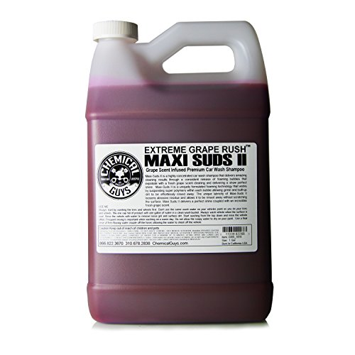 Chemical Guys CWS_1010 Maxi-Suds II Super Suds Car Wash Soap and Shampoo, Grape Scent (1 Gal) (Best Snow Foam Review)