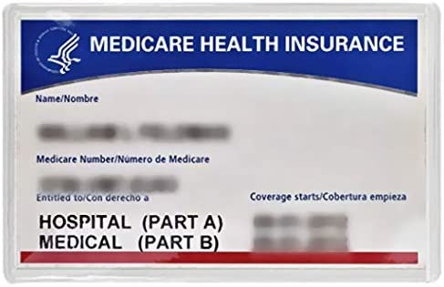 Medicare Holder Protector Sleeve Clear product image